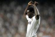 Adebayor en su etapa en el Real Madrid
