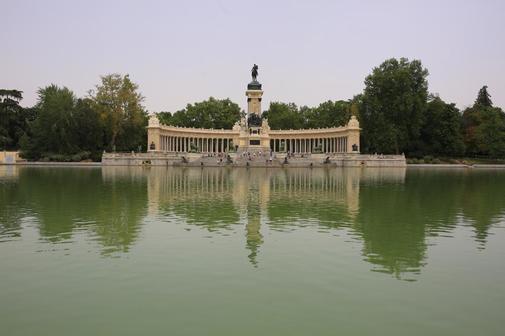 El estanque del Retiro.