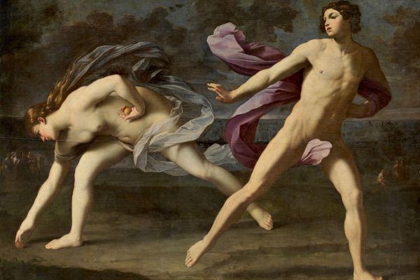 El cuadro 'Hipómenes y Atalanta' de Guido Reni representa el desafío