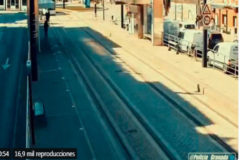Un Policía Local de Granada salva a una invidente cuando el tranvía estaba a punto de atropellarla
