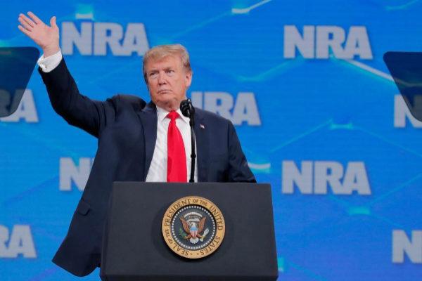 Donald Trump, en el encuentro anual de la Asociación Nacional del Rifle (NRA).