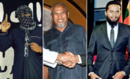 Al centro, el magnate Mohammed Yusuf Ibrahim. Le rodean sus hijos, Imsath Ahmed Ibrahim (derecha) e Ilham Ahmed Ibrahim.