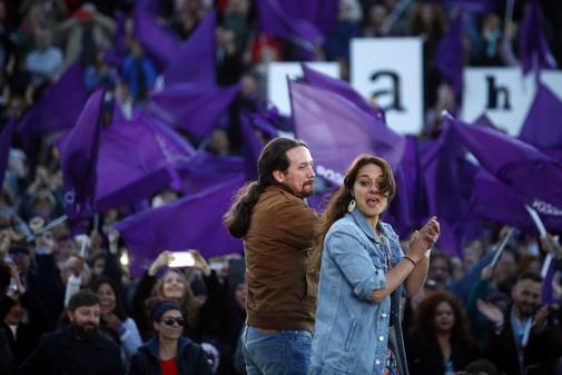 Pablo Iglesias, en el acto de cierre de campaña en Madrid