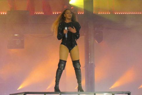 Beyoncé, en uno de sus últimos conciertos.