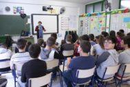 Jornada que Sense Barreres celebró hace unos días en el CEIP Sanchis Guarner de Elche