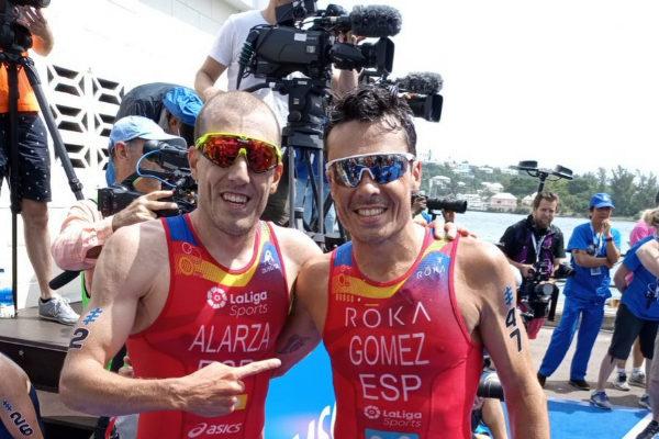 Fernando Alzara (9º) y Javier Gómez Noya (2º)