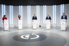Los candidatos a la presidencia de la Generalitat, a excepción de Vox.