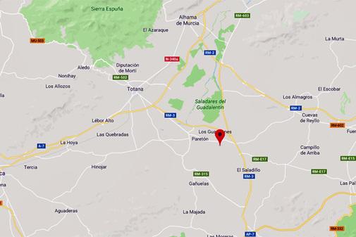 Pedanía Cañadas del Romero, donde ha fallecido el hombre.