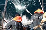 Recogida de muestras a bordo de la embarcación Tara. | DENIAUD GARCIA.