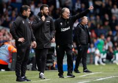 Marcelo Bielsa, en el encuentro ante el Aston Villa.