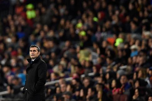 Ernesto Valverde, entrenador del Barcelona.
