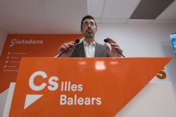 Fernando Navarro, de Ciudadanos en Baleares, tras el resultado de las elecciones.