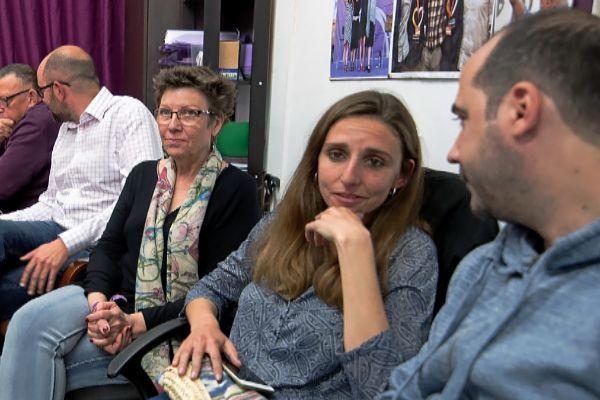 Antònia Jover, Lucía Muñoz y Pep Malagrava, anoche pendientes de los resultados.