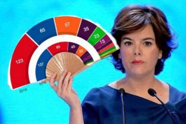 Meme de Soraya Sáenz de Santamaría tras las elecciones 2019
