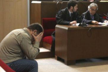 El acusado durante una sesión del juicio