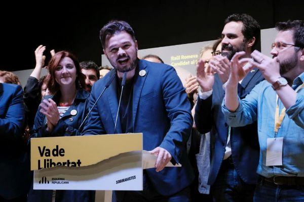 Jordi <HIT>Soteras</HIT> Catalunya Barcelona 28/04/2019 Noche electoral en ERC en la Estacio del Nort de Barcelona Foto Jordi <HIT>Soteras</HIT>