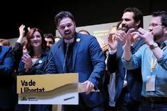 Gabriel Rufián en la noche electoral de ERC