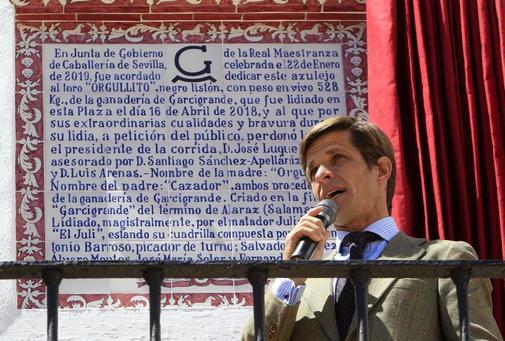 El Juli recuerda la histórica tarde frente al azulejo de 'Orgullito'