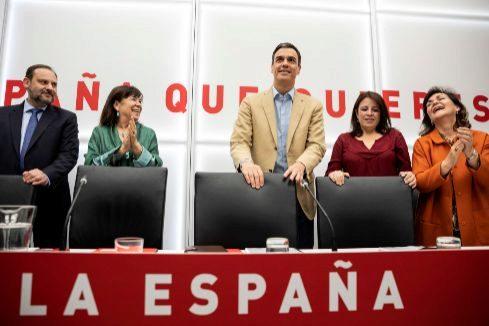 Alberto Di <HIT>Lolli</HIT>. 29/4/2019, Madrid. Reunion de la Ejecutiva del PSOE presidida por Pedro Sanchez un dia despues de la victoria en las elecciones generales