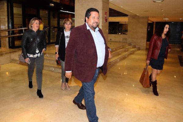 Javier Moliner, presidente de la Diputación, el domingo tras la jornada electoral.