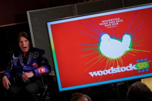 El cantante John Fogerty en el acto de de presentación del concierto...