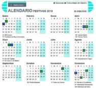 Calendario laboral Madrid 2019: días festivos y puentes