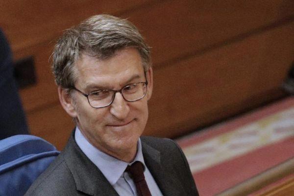 Alberto Núñez Feijóo, este martes en el Parlamento de Galicia.