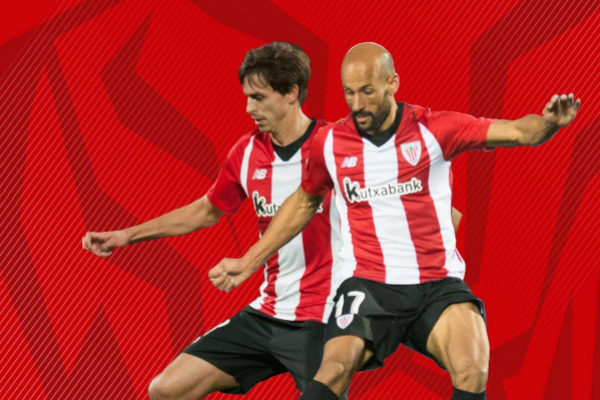 Los jugadores Ander Iturraspe y Mikel Rico.