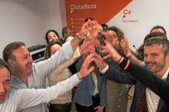 Euforia en la sede de Cs de Palma tras los resultados cosechados en las generales del pasado domingo.