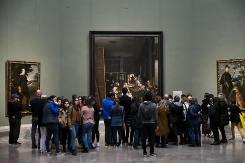 Bernardo Díaz. 24/04/2019. Madrid. Cultura. Arte. Cuadro de 'Las Meninas' de Diego Velázquez en el <HIT>Museo</HIT> del <HIT>Prado</HIT>
