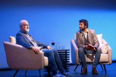Fernando Aramburu, izquierda, y Antonio Lucas, ayer, en la Fundación Juan March.