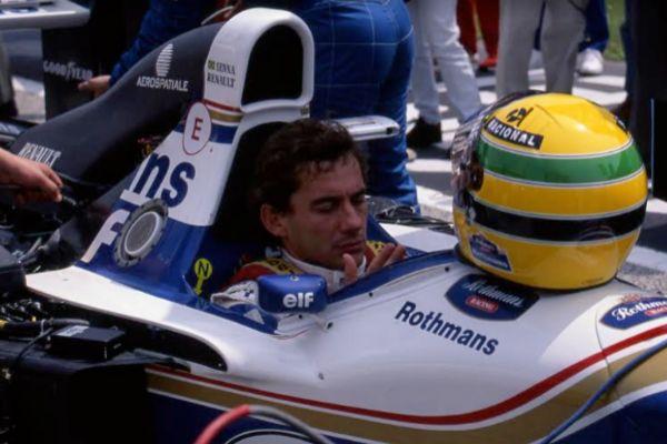 Senna, justo antes de la salida del GP de San Marino de 1994.