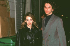 Michael Hutchence y Kylie Minogue en 1992