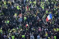 Concentraciones por el 1 de mayo en las calles de París