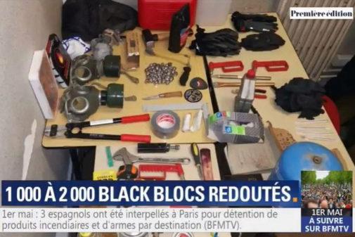 Material incautado a los detenidos en París