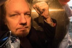 El fundador de WikiLeaks, Julian Assange, a su llegada este miércoles al juzgado en Londres.