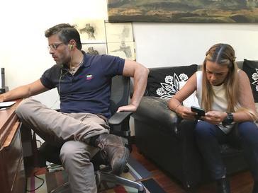 Leopoldo López y Lilian Tintori. FOTO: <HIT>CAYETANA</HIT> ALVAREZ DE TOLEDO