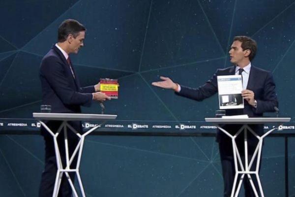 Sánchez y Rivera, en el debate de Antena 3