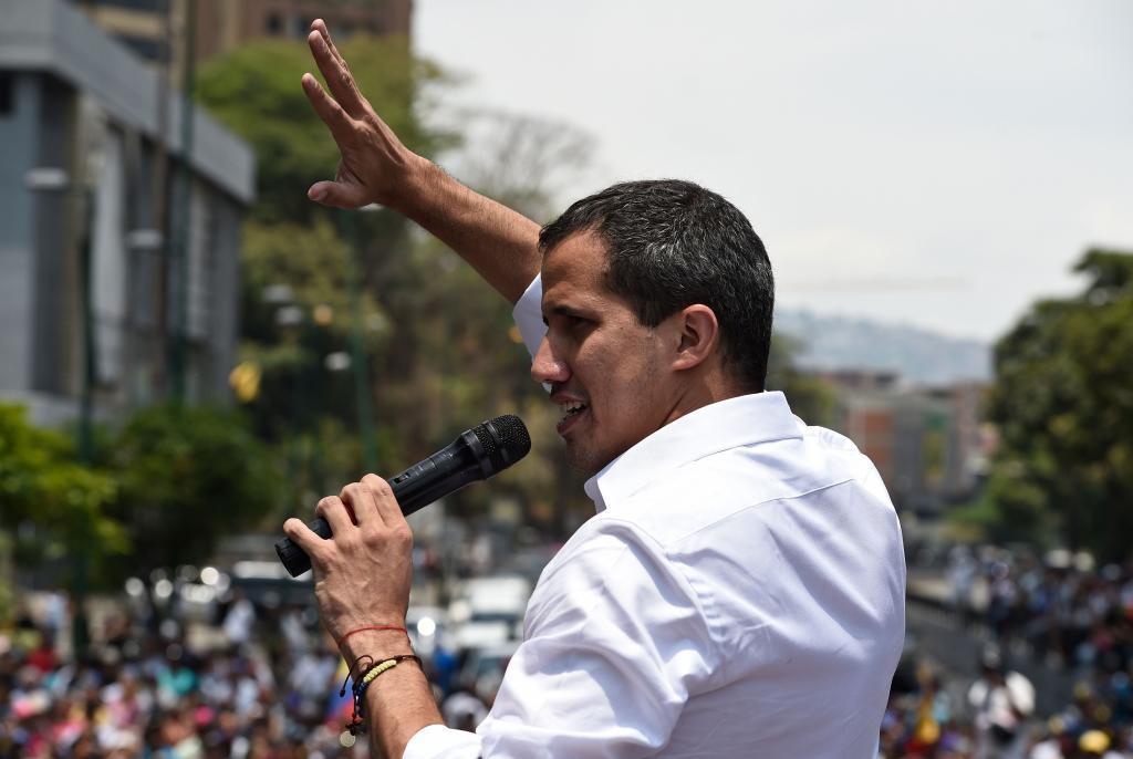 El presidente encargado de Venezuela Juan Guaidó.