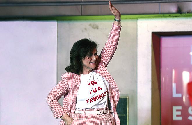 La camiseta feminista de Carmen Calvo se agota en 24 horas