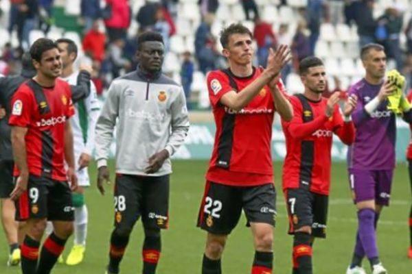 El Mallorca en un partido de esta temporada.