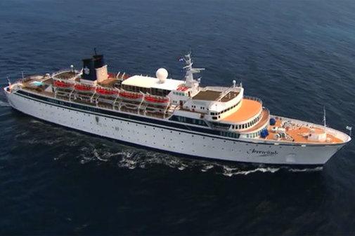 El crucero fue identificado como <em>Freewinds</em></a> es propiedad y está operado por la Iglesia de la Cienciología.