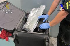 Incautación de droga en una maleta en Loiu.