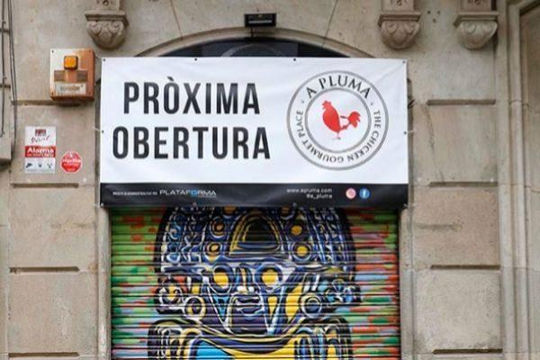El local donde se abrirá un nuevo 'A Pluma' en la calle Gran de Gràcia.