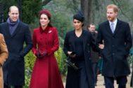 Los duques de Sussex junto a los duques de Cambridge