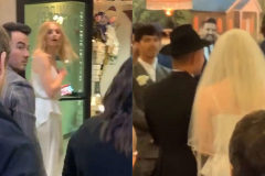 Sophie Turner y Joe Jonas, en su boda.