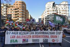 Una de las manifestaciones de los trabajadores de la enseñanza concertada.