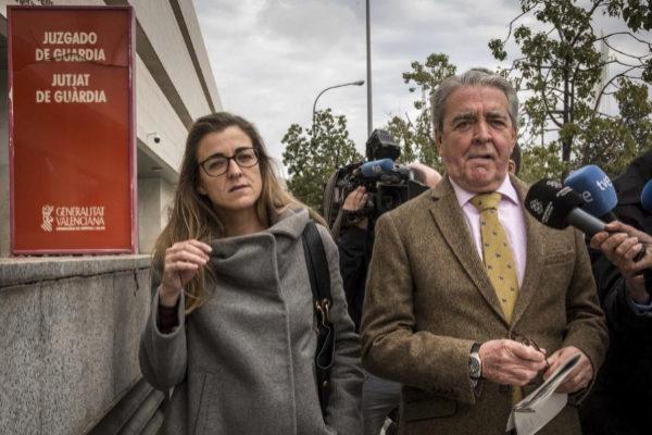 El cuñado de Rita Barberá, José María Corbín, tras declarar este jueves en el juzgado de guardia.
