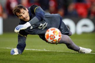 Iker Casillas, durante un partido con el Oporto.