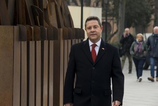 Emiliano García-Page, antes de su discurso de Navidad